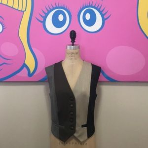 Moschino Cheap Chic Brown Striped Wool Vest Vtg.